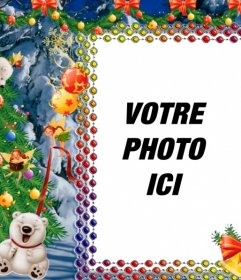 Mettez votre photo sur cette image de Noël avec des pandas