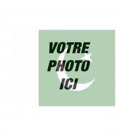 Vous voulez mettre le drapeau du Pakistan avec votre image? Maintenant, vous pouvez le faire en ligne