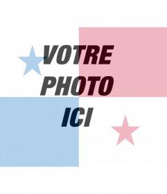 Collage de mettre le drapeau du Panama avec votre photo en ligne