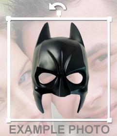 Autocollant avec le masque de super-héros Batman