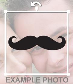 Pare-chocs avec la mode de la moustache pour coller vos photos