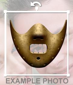 Autocollant du masque dHannibal Lecter