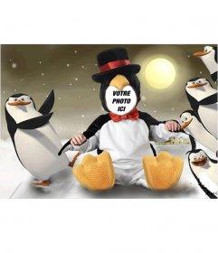 costume de pingouin virtuel pour les enfants que vous pouvez modifier