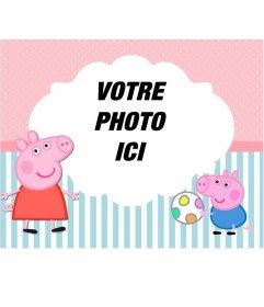 Enfant cadre photo de Peppa Pig