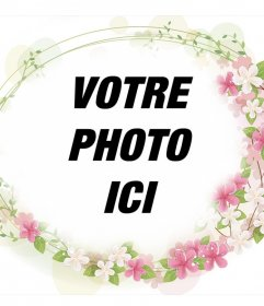 Cadre pour ajouter à vos photos belles fleurs autour delle et
