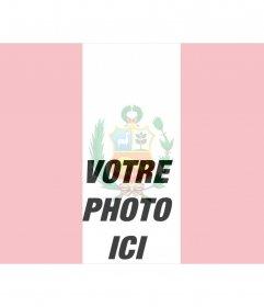 Collage de votre photo avec le drapeau du Pérou à faire en ligne
