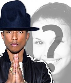 Votre photo avec le chanteur Pharrell Williams avec cet effet modifiable