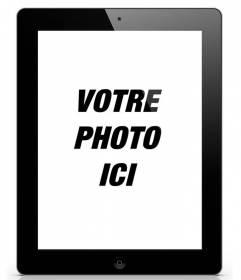 Photomontage de mettre votre photo sur une tablette ou iPad