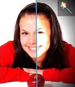 Filtrer les photos vignette avec effet de lumière au centre de la photo