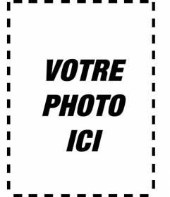 Cadre noir et blanc pour ajouter à vos photos ou portraits verticaux et personnalisées avec un texte imprimé