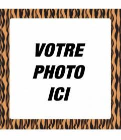 Cadre photo pour décorer vos photos avec un look urbain: style ethnique et imprimé animal