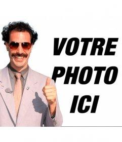 Photomontage de Borat avec son * banane hamac * vert et lunettes de soleil