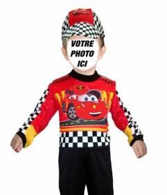 Photomontages personnalisable dun enfant habillé comme un pilote