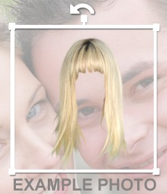 Photomontage femme perruque blonde pour changer vos cheveux