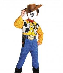 Photomontage de Woody de Toy Story pour déguiser votre enfant en ligne