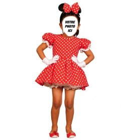 Photomontage du costume Minnie Mouse pour ajouter un visage