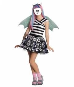 Photomontage où vous pouvez mettre votre visage dans Rochelle, poignet Monster High costume virtuel