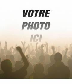 """Photomontage avec une photo de foule dans un concert lors d""""un festival de musique"""