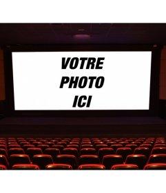 Mettre une image sur le grand écran dun film devant les stands et faire votre propre scène de film
