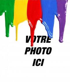 Effet photo pour ajouter de la peinture liquide tombant sur votre photo gratuitement