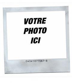 Cadre photo Polaroid style avec fond blanc.