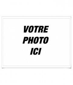 Ce cadre rend l'effet des marges de Polaroid style mettre votre photo préférée.