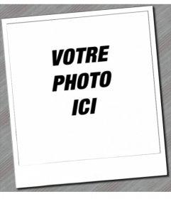 Cadre photo qui vous donnera votre photo ressembler à un Polaroid, avec son cadre blanc typique.