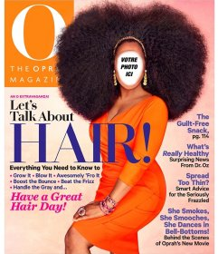 Photomontage être Oprah Winfrey sur la couverture dun