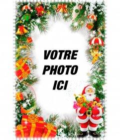 Carte de Noël avec le Père Noël Vertical