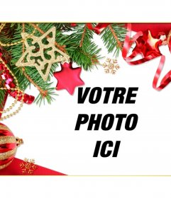 Cadre pour donner une touche de Noël à vos images