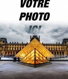 Musée du Louvre à Paris postal à personnaliser avec votre photo