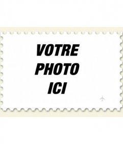 Collage de mettre votre photo sur un timbre à faire en ligne