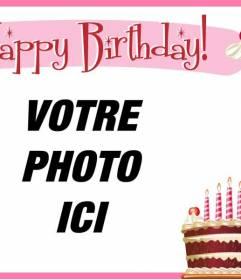 """Créer une carte d""""anniversaire à féliciter vos amis avec cette carte postale que vous pouvez personnaliser avec une photo ou un texte"""