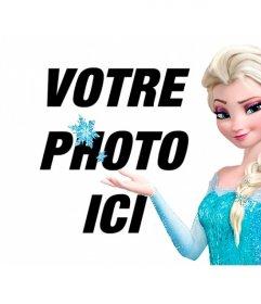 Collage en ligne pour mettre votre photo avec la princesse Elsa de Frozen