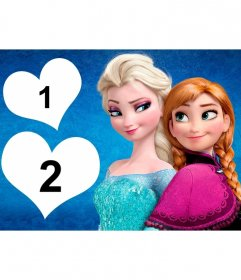 Photomontage pour deux photos Frozen Frozen