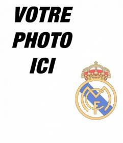 Collage de mettre le blindage du Real Madrid dans votre photo