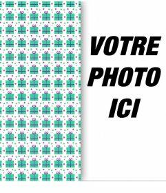 Effet photo pour décorer votre photo avec un papier demballage