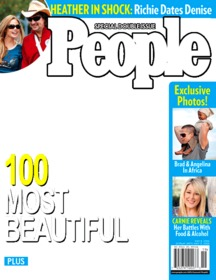Photomontage pour mettre votre photo sur la couverture du magazine People