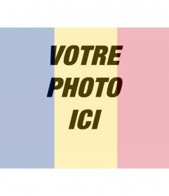 Collage de mettre un drapeau de la Roumanie avec une photo que vous téléchargez