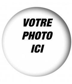 cadre blanc arrondi avec un effet ombré pour votre photo. Idéal pour vos photos de profil.