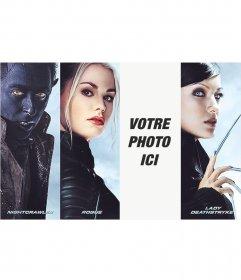 Photomontage avec des personnages de X-Men