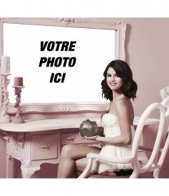 Photomontage avec Selena Gomez pour mettre une photo à côté delle dans un miroir
