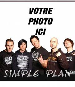 Votre photo avec les membres du groupe Simple Plan avec ligne montage photo de cet effet pour les fans de bande de Simple Plan où vous pouvez télécharger votre photo préférée sans aucun problème et être avec les membres sur cette affiche que vous pouvez partager ou imprimer