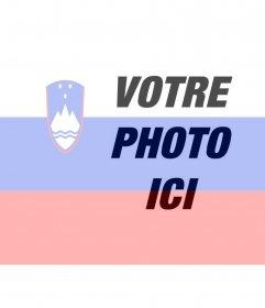 Mettez votre photo avec le drapeau de la Slovénie avec ce montage photo en ligne