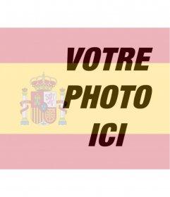 """Photomontage de mettre le drapeau de l""""Espagne dans votre photo que vous pouvez utiliser à votre photo de profil"""