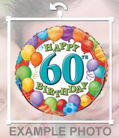 Ballon coloré pour célébrer le 60e anniversaire de lajouter sur votre