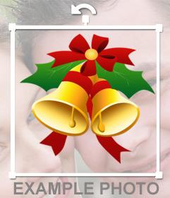 Effet pour décorer vos photos avec des cloches de Noël