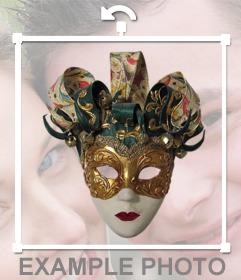 Autocollant dun masque de carnaval original pour vos photos