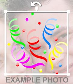 Autocollant avec confettis colorés pour décorer photos