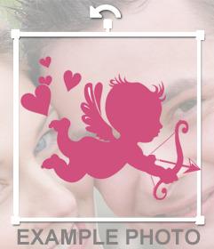 Cupidon autocollant à mettre sur vos photos